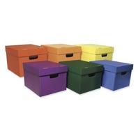 "Classroom Keepers  Storage Tote Assortment, 10 1/8""HX12 1/4""W X 15 1/4""D, 6 Totes"