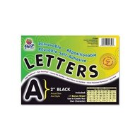 School Specialty Self-Adhesive Letters 4 inch - Black - Pack of 78