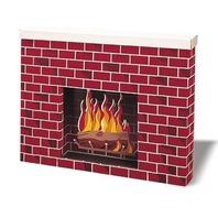 Corrugated Fireplace; 38W x7D x 30H; no. PAC53080