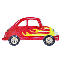 BIG HUGE FINGERPAINT PAPER CARS 20