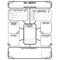 Graphic Organizer Posters: All-About-Me Web (Grades 3-6): 30 Fill-in Personal Posters for Students to Display with Pride