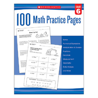 105 MATH PRACTICE PAGES GR 6