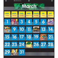 POCKET CHART MONTHLY CALENDAR BLACK