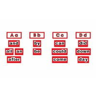 High Frequency Level 1 Word Wall Words
