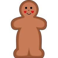 Shapes Etc. Se-101 Notepad Large Gingerbread Man