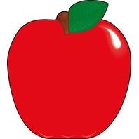 Shapes Etc. Se-115 Notepad Large Macintosh Apple