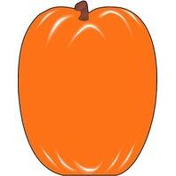Shapes Etc. Se-116 Notepad Large Pumpkin