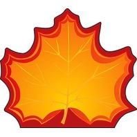 Shapes Etc. Se-120 Notepad Large Maple Leaf