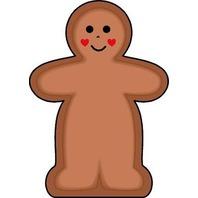 Shapes Etc. Se-761 Notepad Mini Gingerbread Man