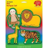 Creative Shapes Notepad Zoo Animals Set Mini