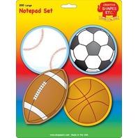 Creative Shapes Notepad Sports Set Large