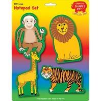 Creative Shapes Notepad Zoo Animals Set Large