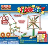POOF-Slinky 9104FBBL Fiddlestix Classic Wood Connector Set, 104-Pieces