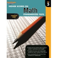 Higher Scores on Standardized Test for Math: Reproducible Grade 5 (Steck Vaughn)