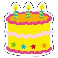Mini Accents: Birthday Cake; 36 Per Pack