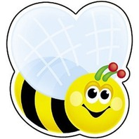 Mini Accents: Bee; 36 Per Pack