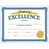 Certificate Of Excellence Classic Certificates; 30 Per Pack