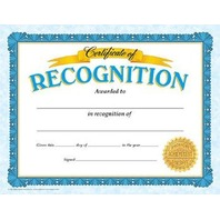 Certificate Of Recognition Classic Certificates; 30 Per Pack
