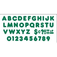 Kelly Green 4 Inch Casual Ready Letters Set