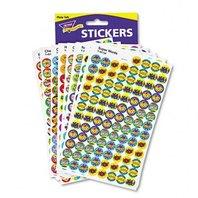 Trend Enterprises T1945 SuperSpots & SuperShapes Sticker Variety Packs, Positive Praisers, 2500/Pack