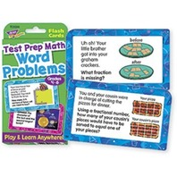 Word Problems Test Prep Math, Grades 4-6 Challenge Cards