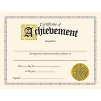 Certificate Of Achievement; 30 Per Pack