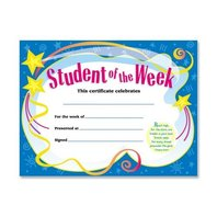Student Of The Week Certificate; 30 Per Pack