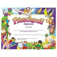 Colorful Preschool Diploma; 30 Per Pack.