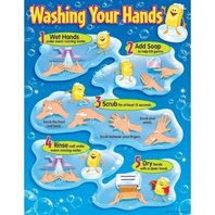 Washing Your Hands Chart; 17 x 22; no. T-38085
