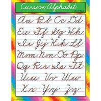 Cursive Alphabet Chart; 17 x 22; no. T-38136