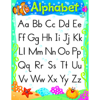ALPHABET SEA BUDDIES LEARNING CHART