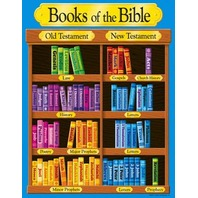Books Of The Bible Chart; 17 x 22; no. T-38702
