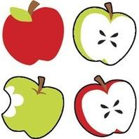 Trend Enterprises Inc. Supershapes Stickers Tasty Apples