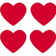 Trend Enterprises Inc. Supershapes Stickers Red Hearts