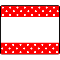 POLKA DOTS RED TERRIFIC LABELS