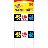 Trend Enterprises Inc. Paw Prints Name Tags