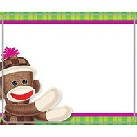 Sock Monkey Name Tags