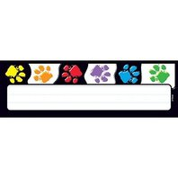 Trend Enterprises Inc. Paw Prints Desk Toppers Name Plates