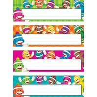 Sock Monkeys Desk Toppers Name Plates Variety Pack