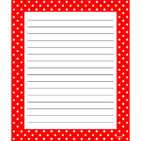 POLKA DOTS RED NOTE PAD