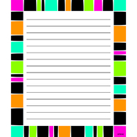 STRIPE-TACULAR GROOVY NOTE PAD