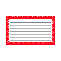 POLKA DOTS TERRIFIC INDEX CARDS