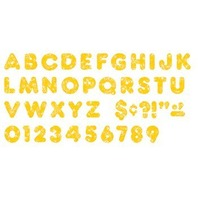 Yellow Sparkle 3-Inch Casual Uppercase