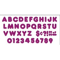 Purple Sparkle 3-Inch Casual Uppercase