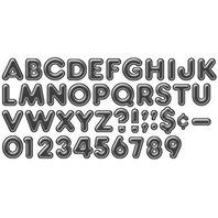 Black 4 Inch 3-D Ready Letters Set