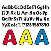 Trend Enterprises 79742 Pin-up Ready Letters, 4 in., Pre-punched, Red