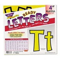 """Yellow 4"""" Playful Combo Pack Ready Letters; no. T-79743"""