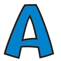 """Blue 4"""" Playful Combo Pack Ready Letters; no. T-79744"""