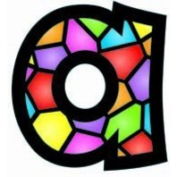 """Stained Glass 4"""" Playful Combo Pack Ready Letters; no. T-79751"""