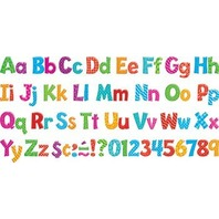 Colorful Patterns 4-Inch Playful Combo Ready Letters